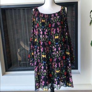 INC floral peekaboo dress